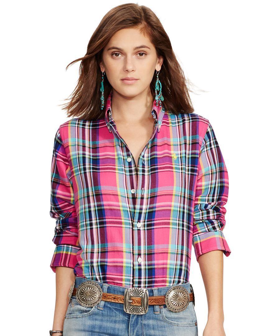 3f9c957b5 Polo Ralph Lauren Plaid Cotton Twill Shirt