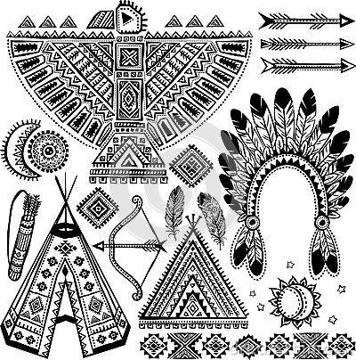 S mbolos del indio del nativo americano fotos stock 77 - Fogli da colorare nativo americano ...