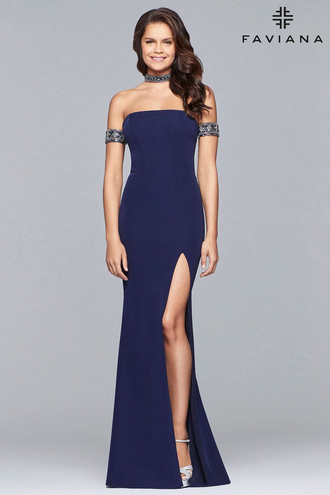 b8eb8f3a6f4 Be on trend a choose prom dress with choker. Faviana Style 83397