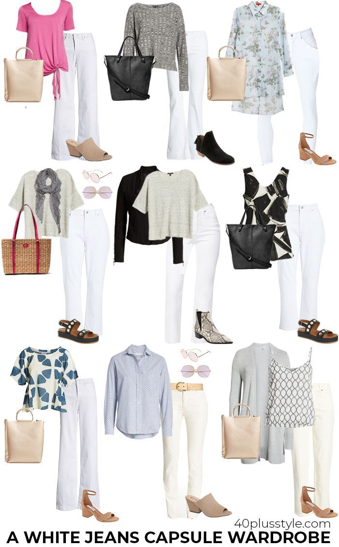 A white jeans capsule wadrobe   40plusstyle.com