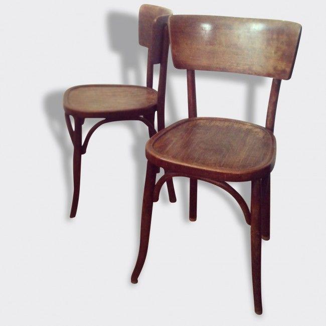 Chaises Epoque 1900 Mahieu Type Thonet Bistrot Bois Et Teck Marron Dans Son Jus Vintage Mobilier De Salon Deco Vintage Chaise