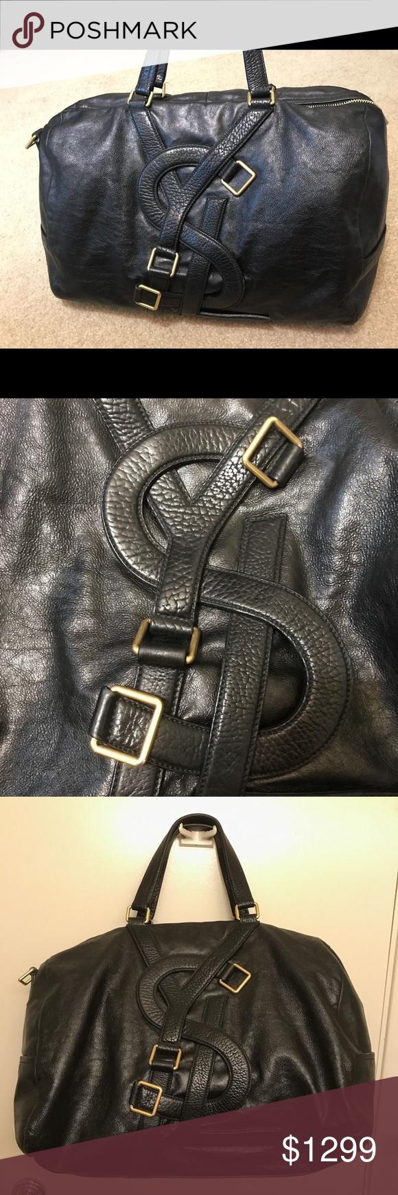 022de846fec8 Yves Saint Laurent YSL Vavin Leather Duffle Bag Authentic Yves Saint  Laurent Vavin Duffle Bag.