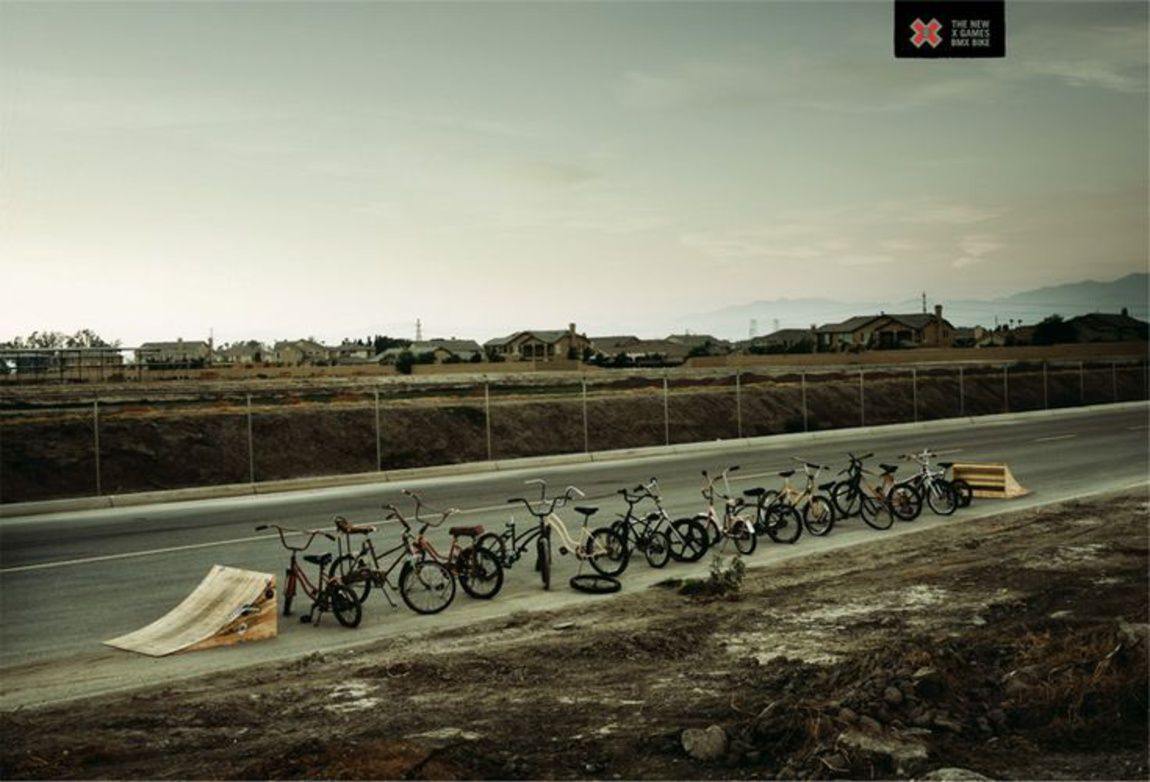 Read more: https://www.luerzersarchive.com/en/magazine/print-detail/espn-35674.html ESPN Campaign for the new X Games BMX Bike. Tags: Ground Zero, Los Angeles,ESPN,Chad Ress Photography, Santa Barbara,Noah Clark