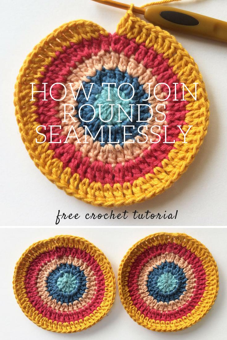 Crochet Invisible Join Tutorial   Vestido para damas, Patrón de ...