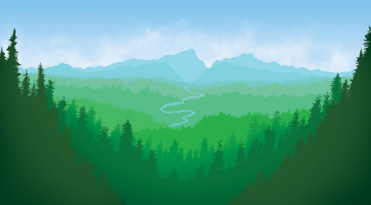 Digital Landscape Painting Landscape Illustration Landscape Art Lessons Chinese Landscape Painting