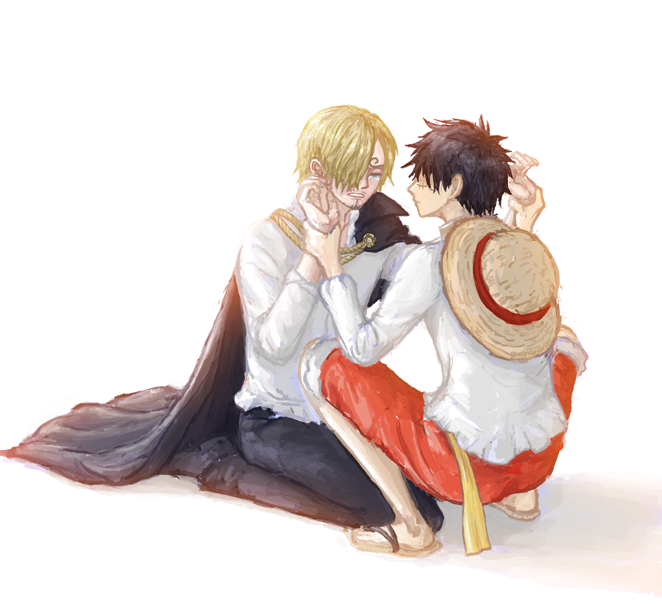 One Piece, Sanji, Luffy