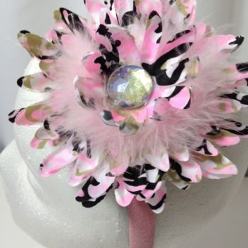 Zassy Zebra Pink Marabou Headband at the Shopping Mall, $12.99 (USD)