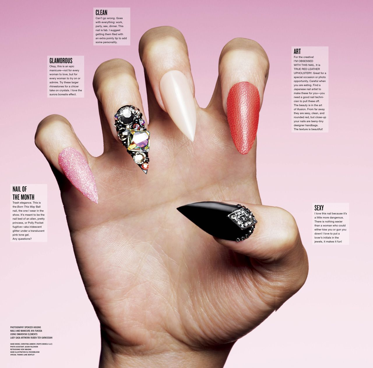 This Magazine Layout Is From V Magazine And Its About Nail Art