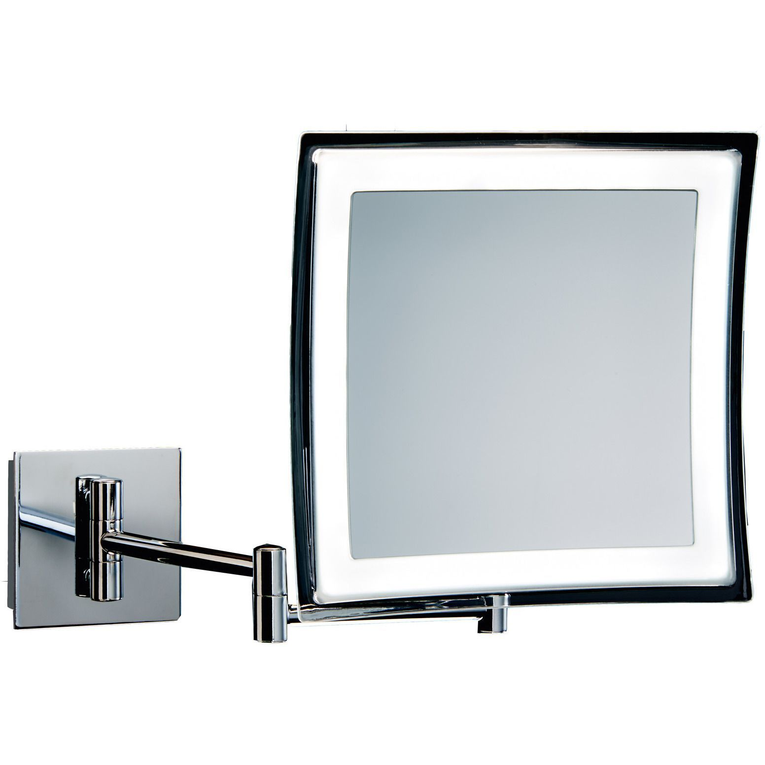 Dwba square wall mounted cosmetic makeup 5x led light magnifying dwba square wall mounted cosmetic makeup 5x led light magnifying mirror chrome aloadofball Choice Image