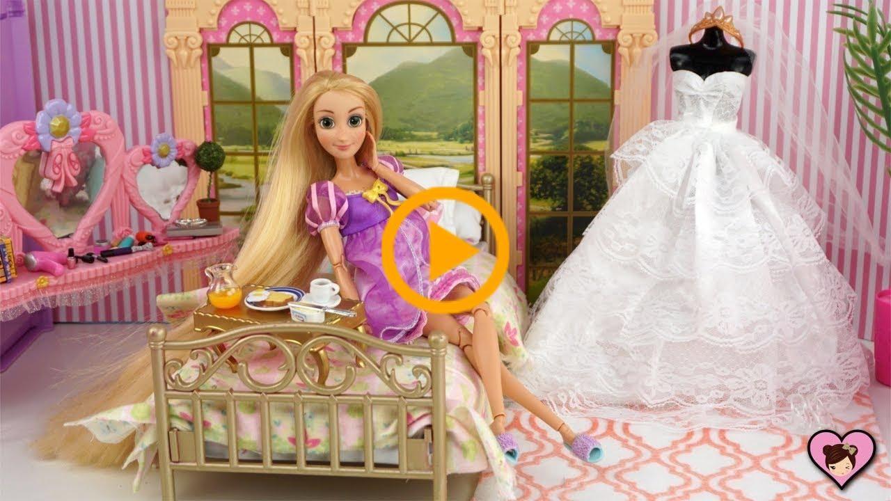 Princess Rapunzel Wedding Morning Routine - Barbie Pink ...