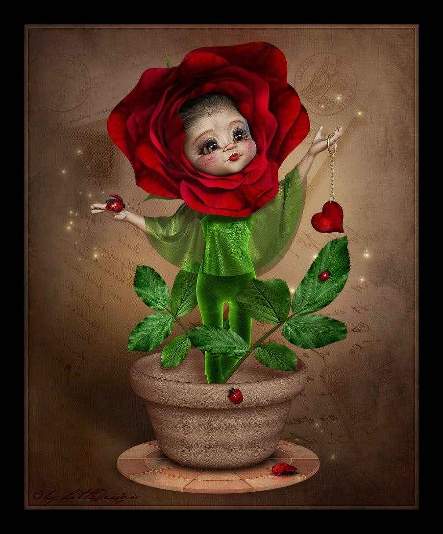 Littledesign Kiki Ruby Schönen Tag Gif Süße Kunst Schöne Blumen