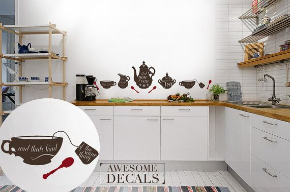 kitchen wall decal quote wall decal custom murals on wall stickers for kitchen id=31666