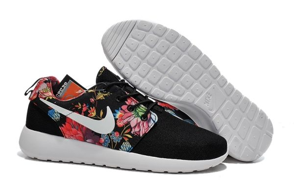 new concept 5754f 8767a ... usa nike roshe run print black sun flower pattern white tick nike free  run sale mint