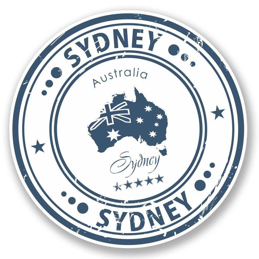 2 X Sydney Australia Vinyl Sticker 4571 In 2019