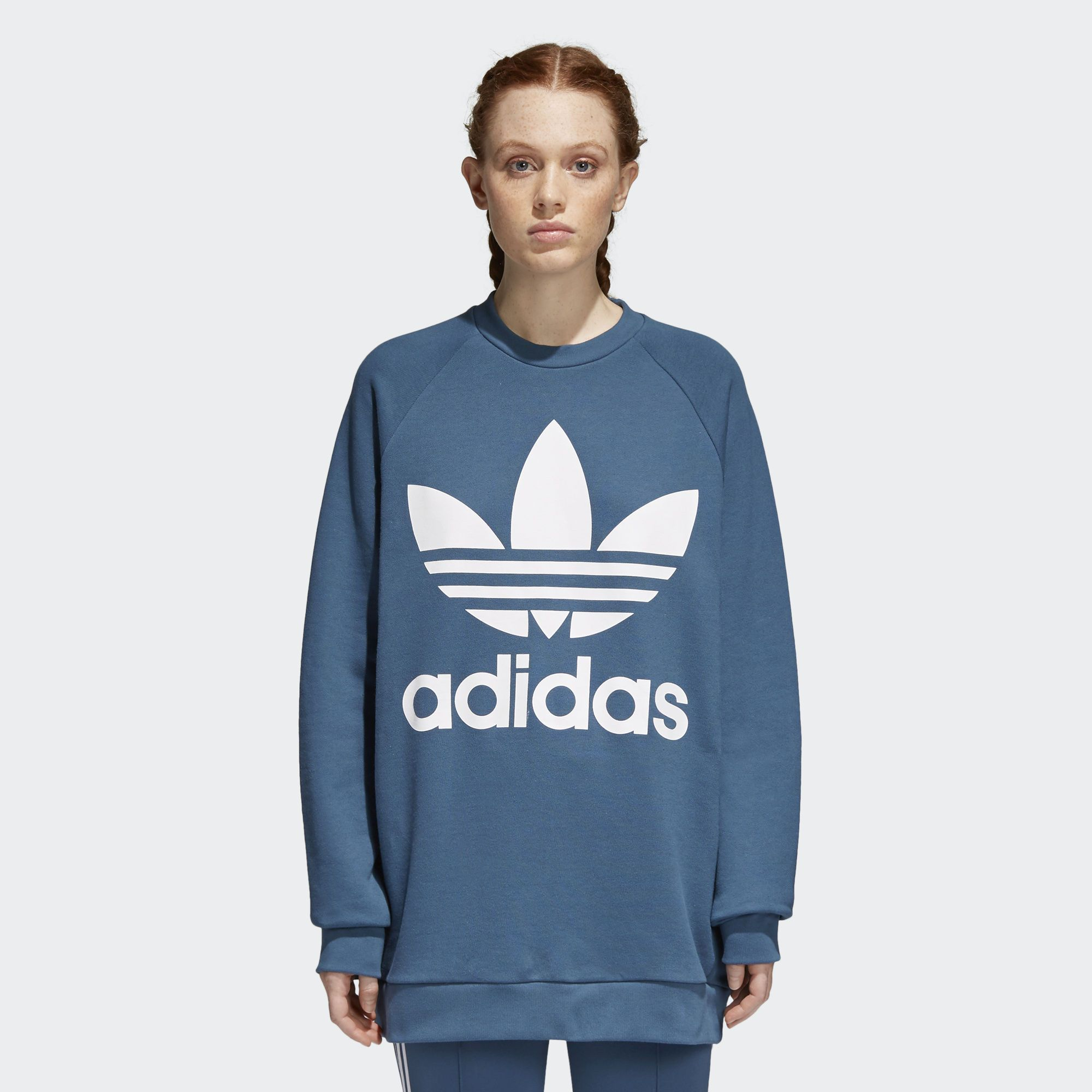 Shop The Trefoil Oversize Sweatshirt Grey At Adidas Com Us See All The Styles And Colors Of Trefoil Oversize S Sweatshirts Hoodies Womens Sweatshirts Hoodie [ 2000 x 2000 Pixel ]