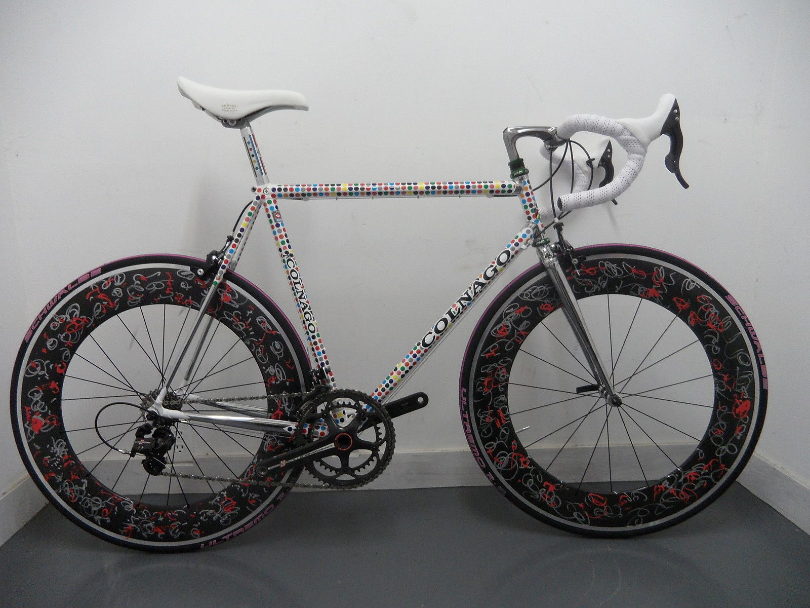 Futura 2000 Colnago Prototype Road Bike 57cm with Original Artwork Wheel Set | eBay