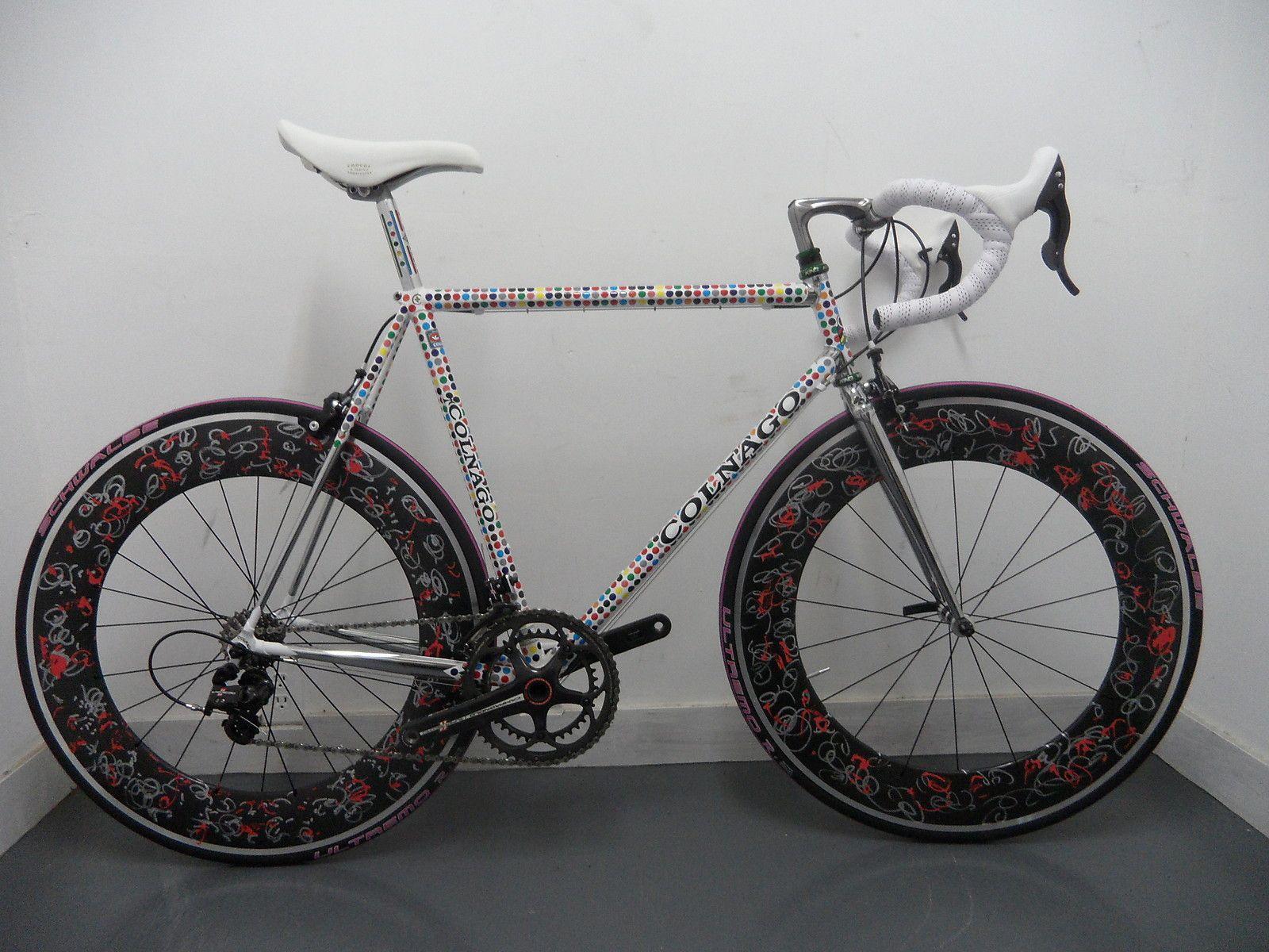 Futura 2000 Colnago Prototype Road Bike 57cm with Original Artwork Wheel Set   eBay
