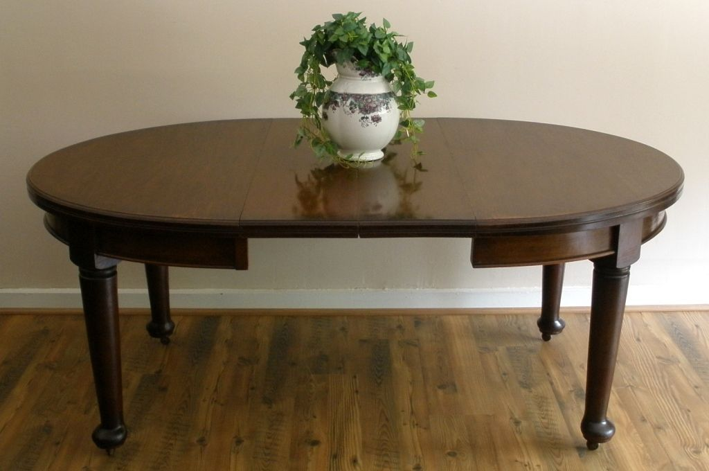 Antique Dining Table, English, Mahogany, Oval, Extending.