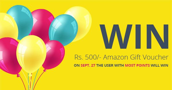 Contest Enter To Win Rs500 Amazon Voucher And Grab 20