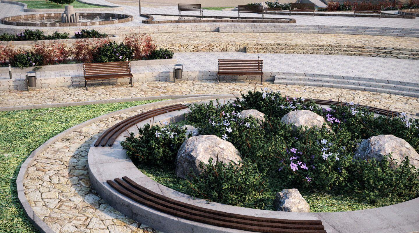 Landscape Park 2 3d Model Park Landscape Landscape Landscape