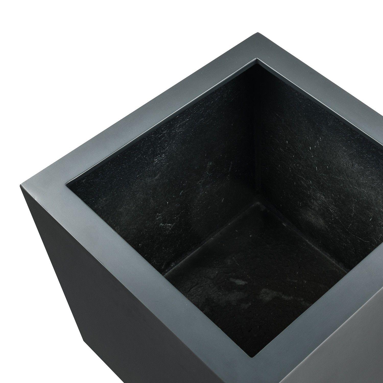 Blumentopfe Pflanzkubel Argento Cube Anthrazit Quadratisch