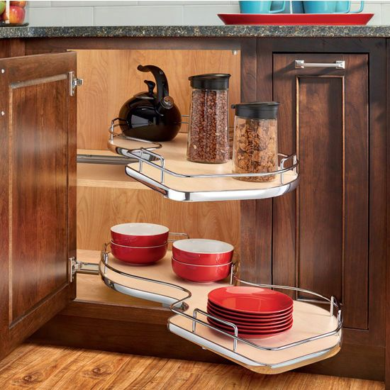 Kitchen Cabinet Accessories Blind Corner this rev-a-shelf ''the cloud'' double tier blind corner cabinet