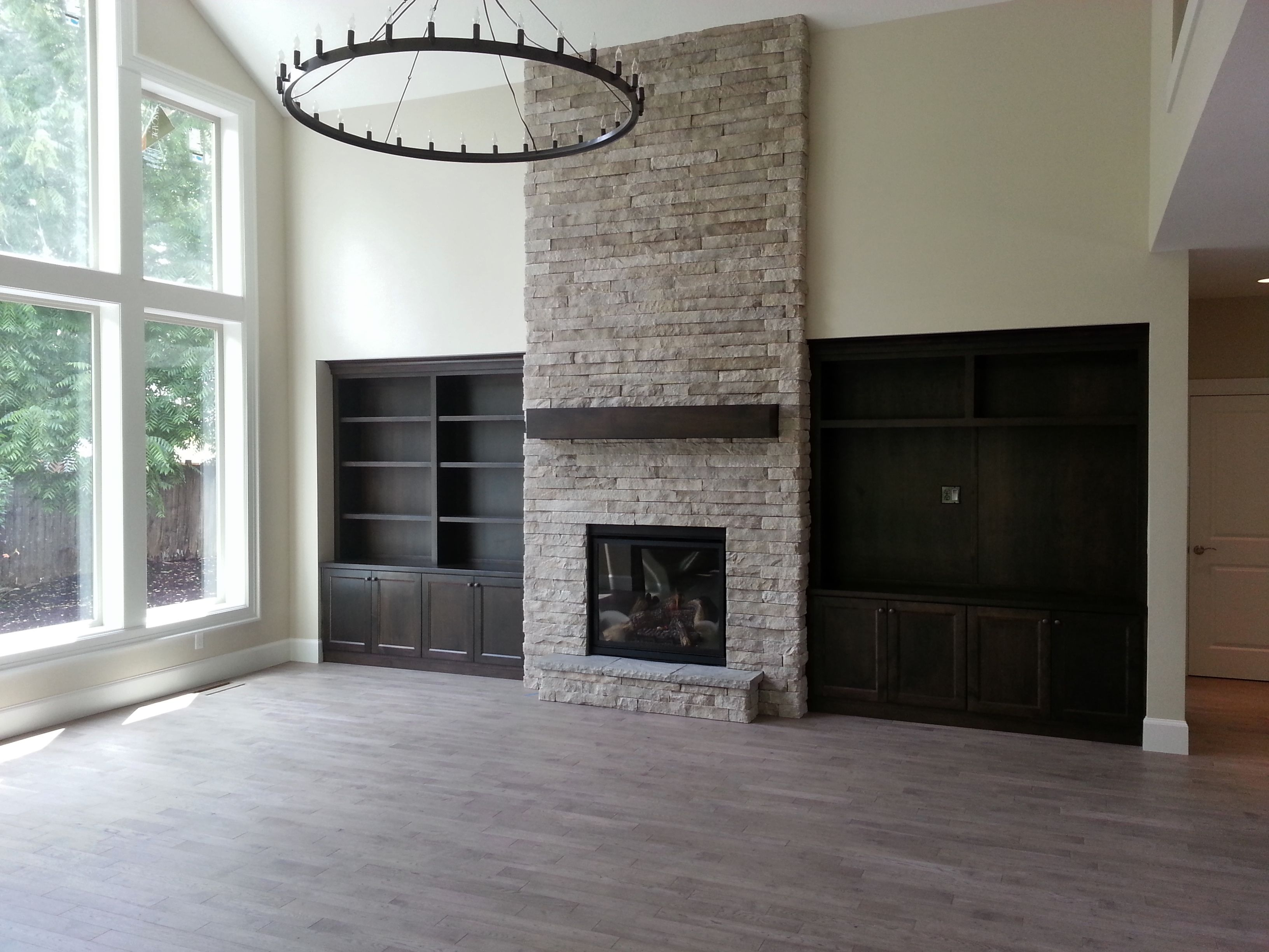 Fireplace Indoor Fireplace Stone To Ceiling Gas