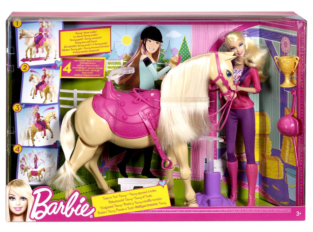chelsea and tawny horse barbie barbie barbie cheval de dressage - Barbie Cheval