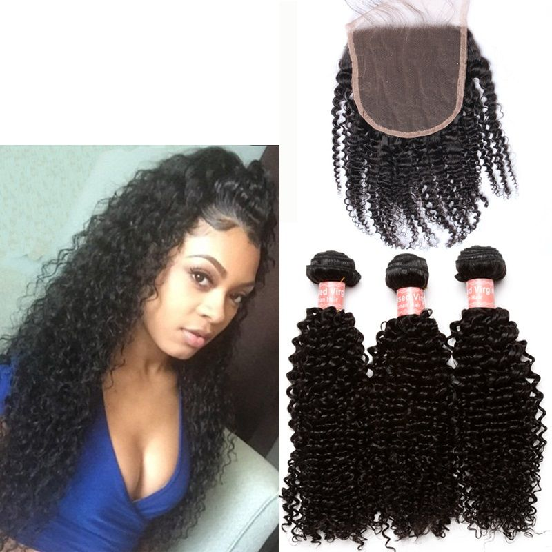 Human Hair Weaving 3 Way Lace Closure Virgin Hair Pinterest