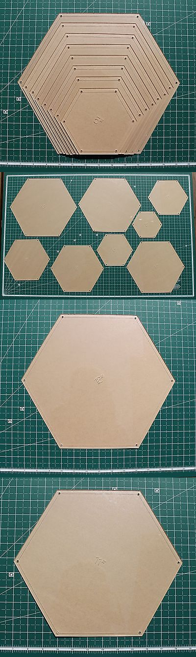 Quilt Templates and Stencils 116680 Hexagon Quilting Template Set 5