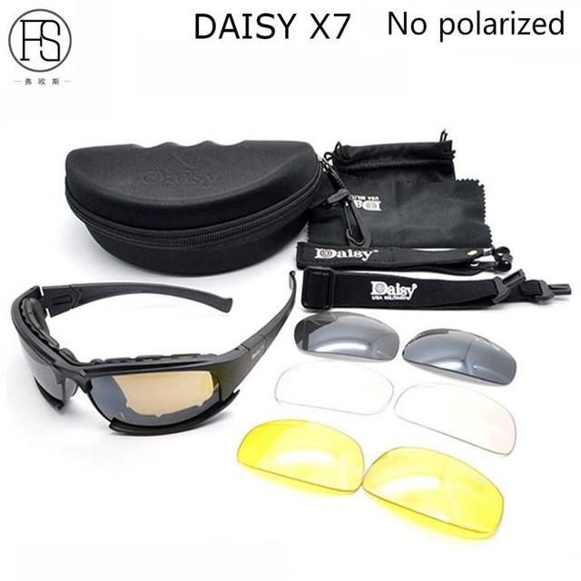 288c3d552fed6 Daisy C5 Polarized Sunglasses X7 Airsoft Oculos Paintball Hiking Military  Goggles Hunting Shooting Eyewear