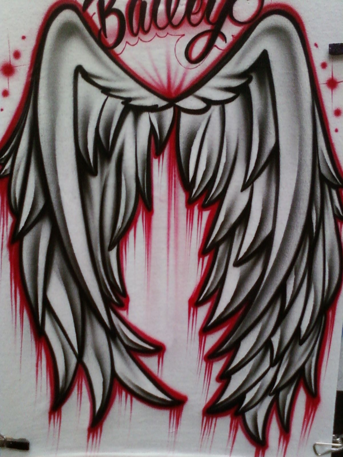 Airbrushed Wings Of T-shirt