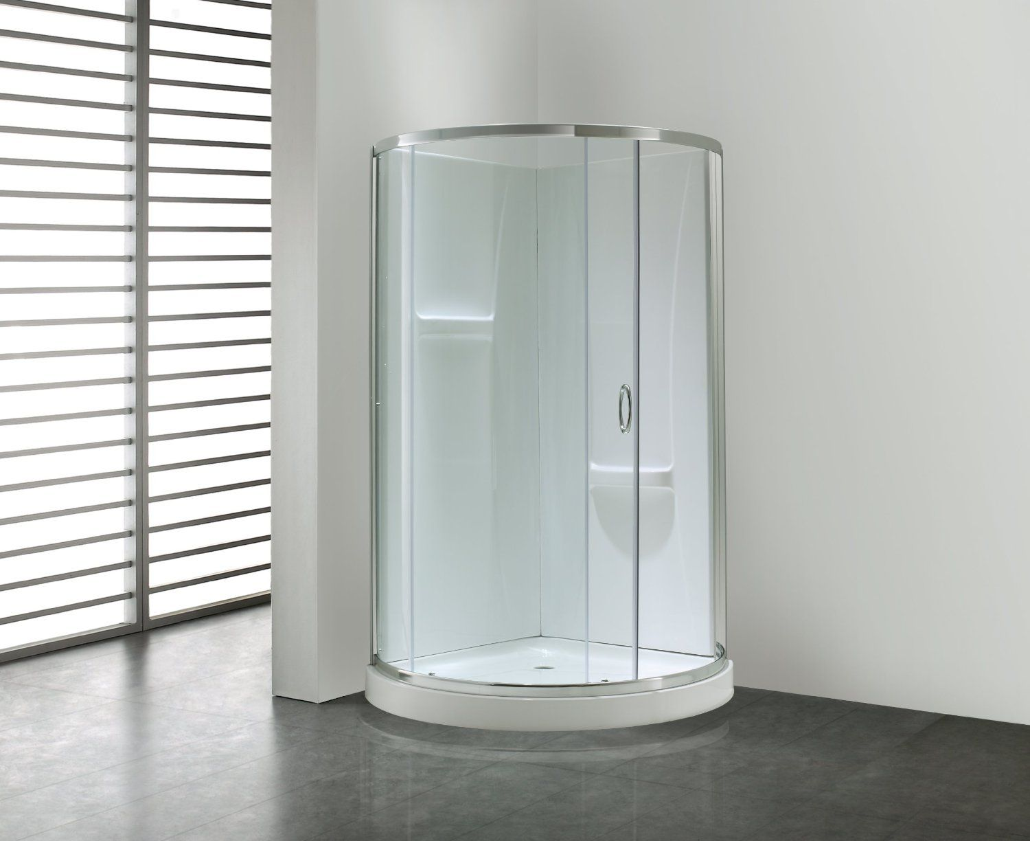 OVE Breeze31withwalls Premium 31Inch Shower Kit with