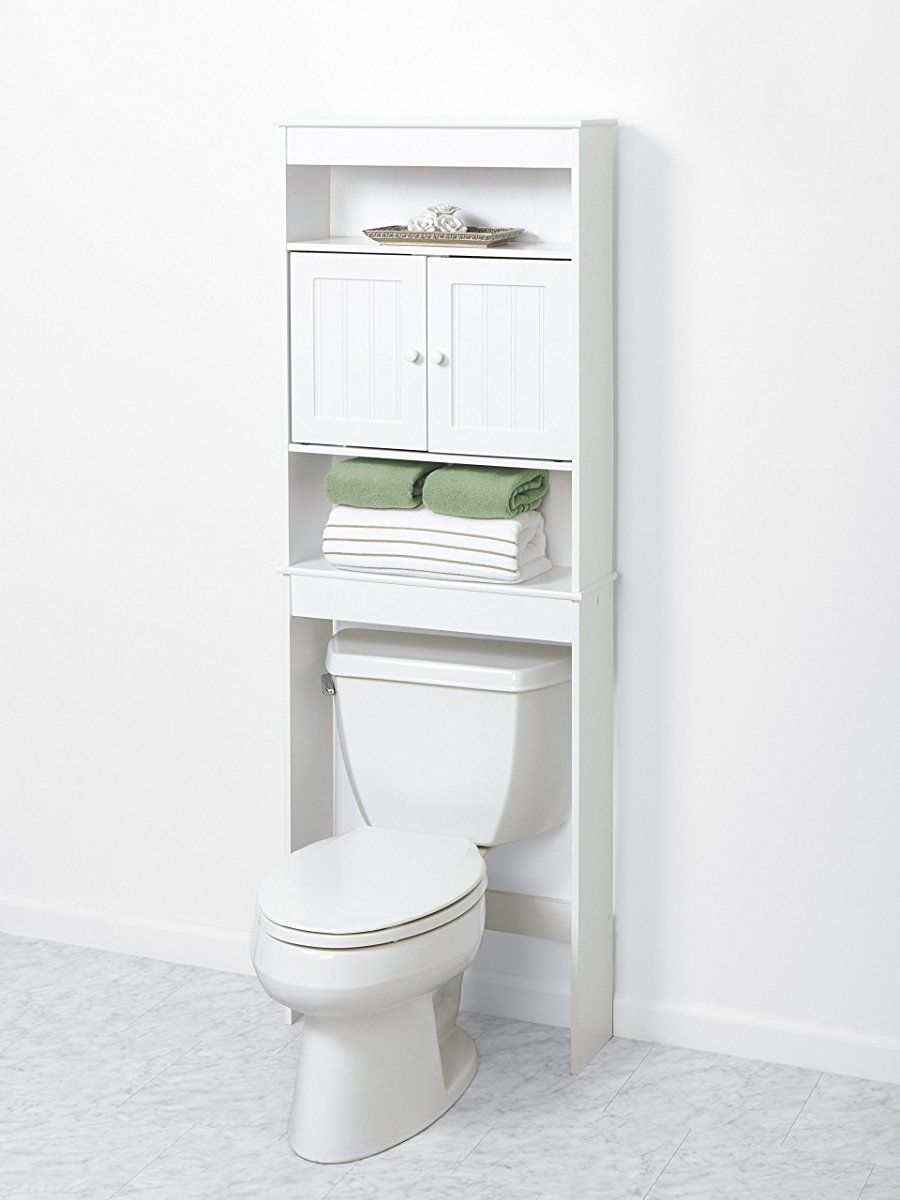 Zenna Home 9119w Cottage Collection Bathroom Spacesaver White Toilet Storage Over Toilet Storage Toilet Shelves