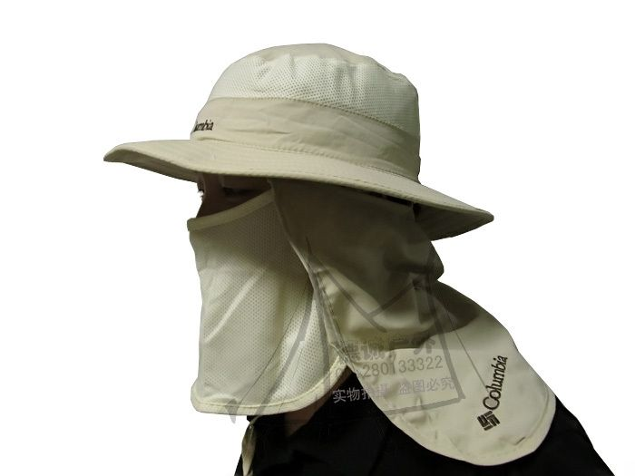 cb5a2d704734f  18 Outdoor Summer Men Women UV Protection Sun Block Fishing Hat Multicolor  Neck Protection Quick Drying Detachable Cap Free ship