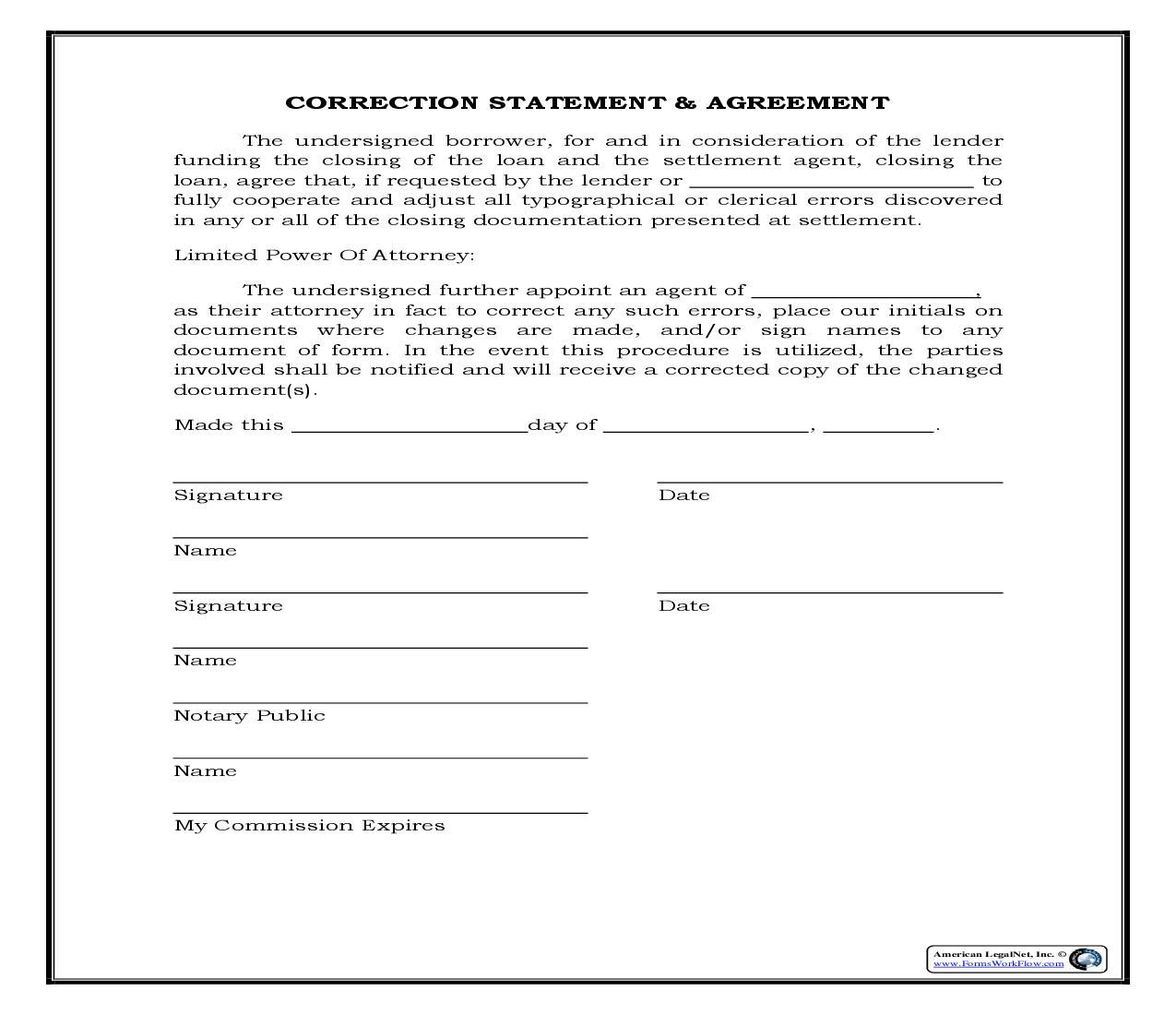 This Is A Legal Forms Form That Can Be Used For Closings
