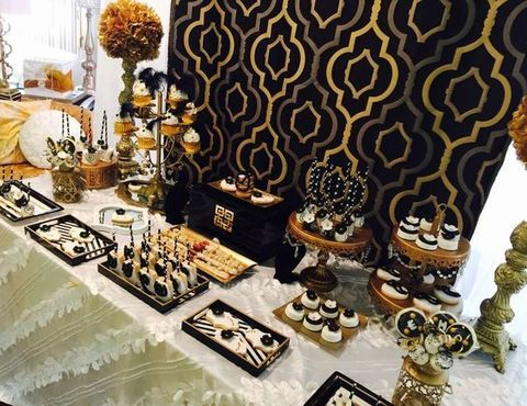 ef0267512130 32 Chic Art Deco Bridal Shower Ideas