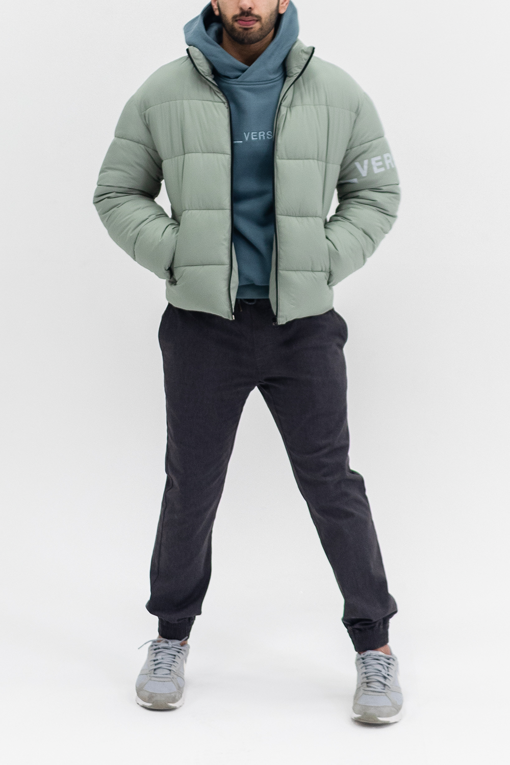 Sustainable Puffer Jacket Forest Green Jackets Puffer Jackets Sustainable Fashion [ 1500 x 1000 Pixel ]