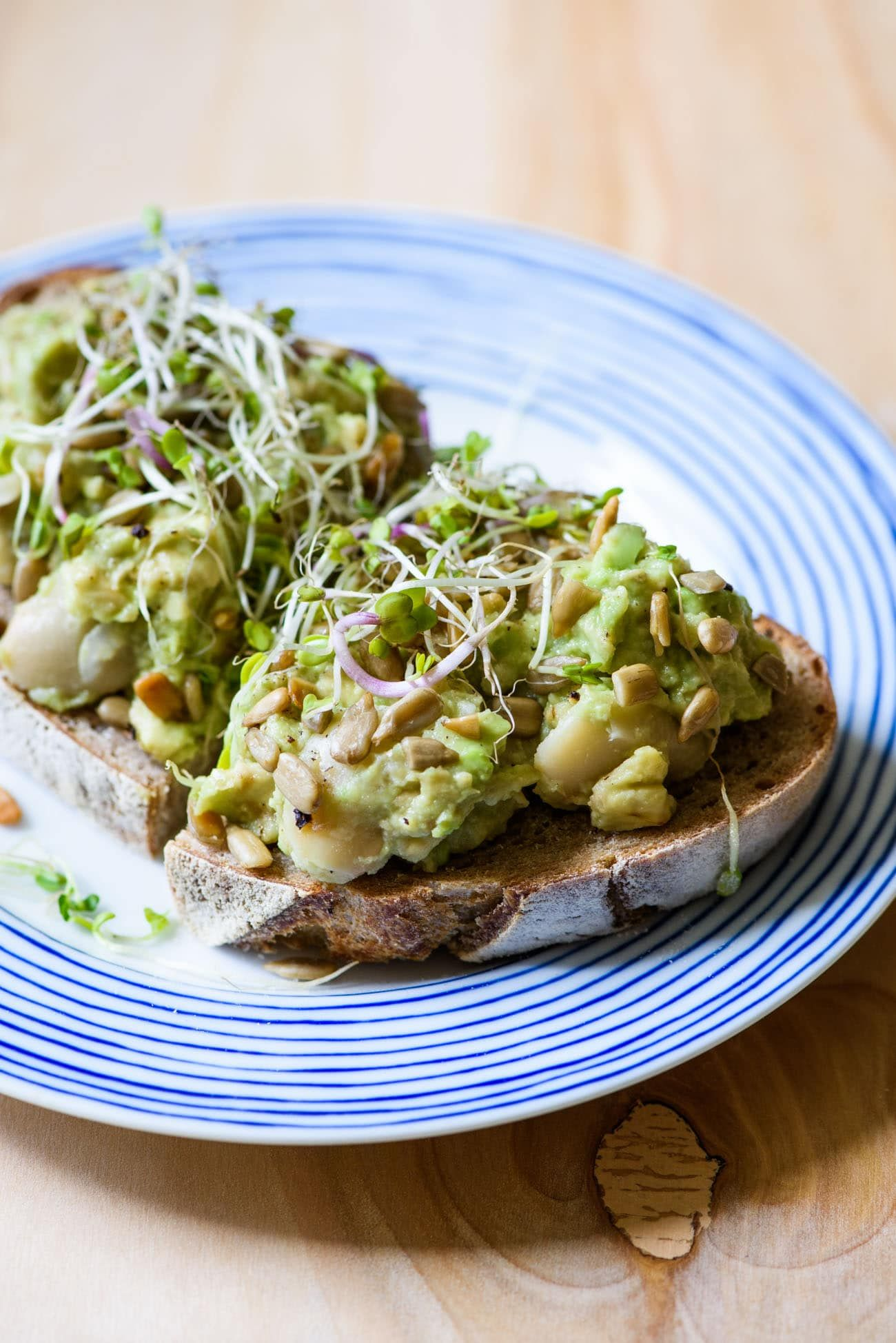 Mashed Avocado And Bean Toast