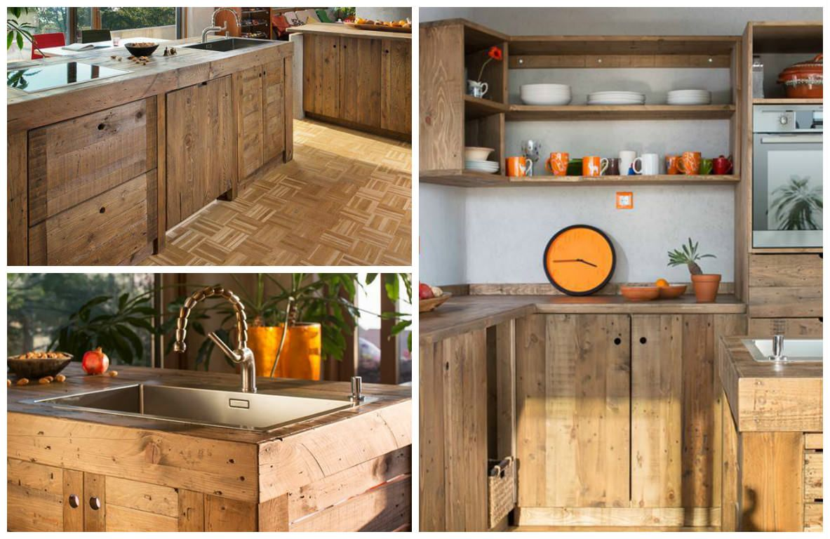 Entire Modern Kitchen Made Out Of Pallets 1001 Pallets Kitchen Cabinets Made Out Of Pallets Home Decor Kitchen Pallet Kitchen Cabinets
