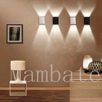 Details About 3w Led Wall Lamp Hall Porch Walkway Bedroom Livingroom Home Fixture Light Black Dizajn Osvesheniya Svetilniki Osveshenie