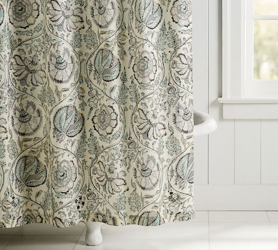 haylie organic shower curtain pottery
