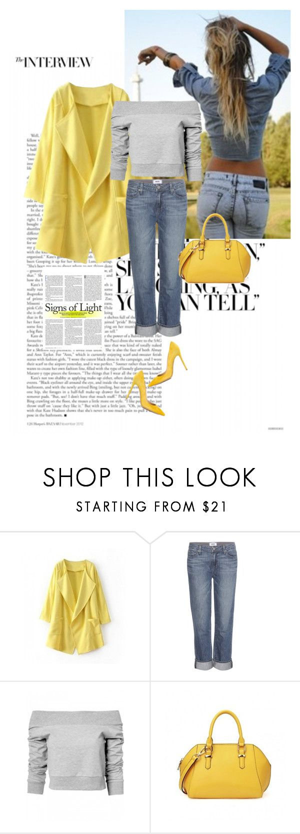 """""""Shine bright..............."""" by style-stories ❤ liked on Polyvore featuring Paige Denim and Gianvito Rossi"""