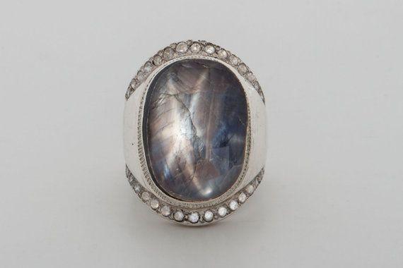 510d0ef494d4b Black Star Sapphire Ring Special Zircons Genuine Gemstones In ...