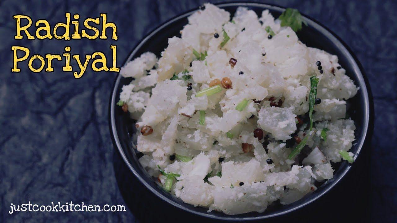 Mullangi Poriyal Radish Poriyal Mullangi Poriyal In Tamil Mullangi Radish Recipes Kootu Recipe Recipes