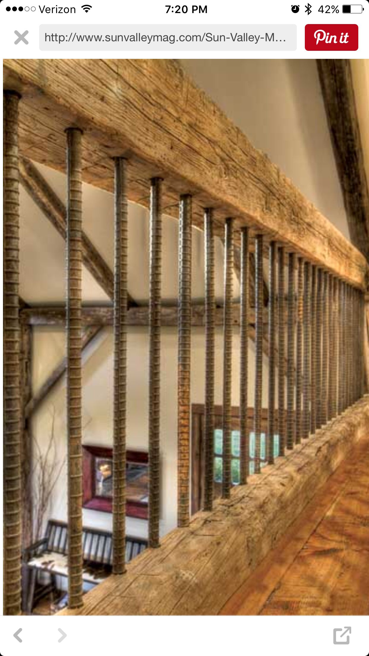Rustic Stair railing   Rustic bathroom wall decor ...