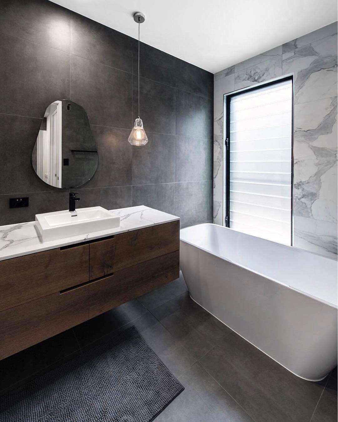 Dark & dreamy bathroom designed by the talented
