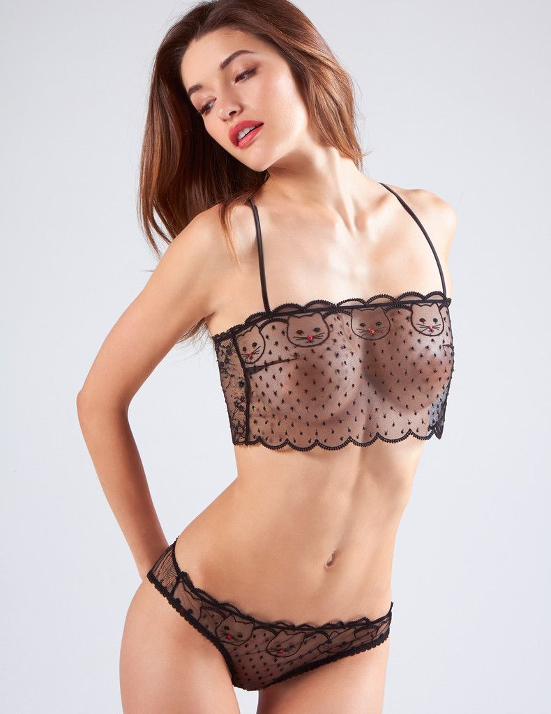 d4b8e69ace256d Sheer purr-fection. Decorated with an embroidered cat hand drawn by ...