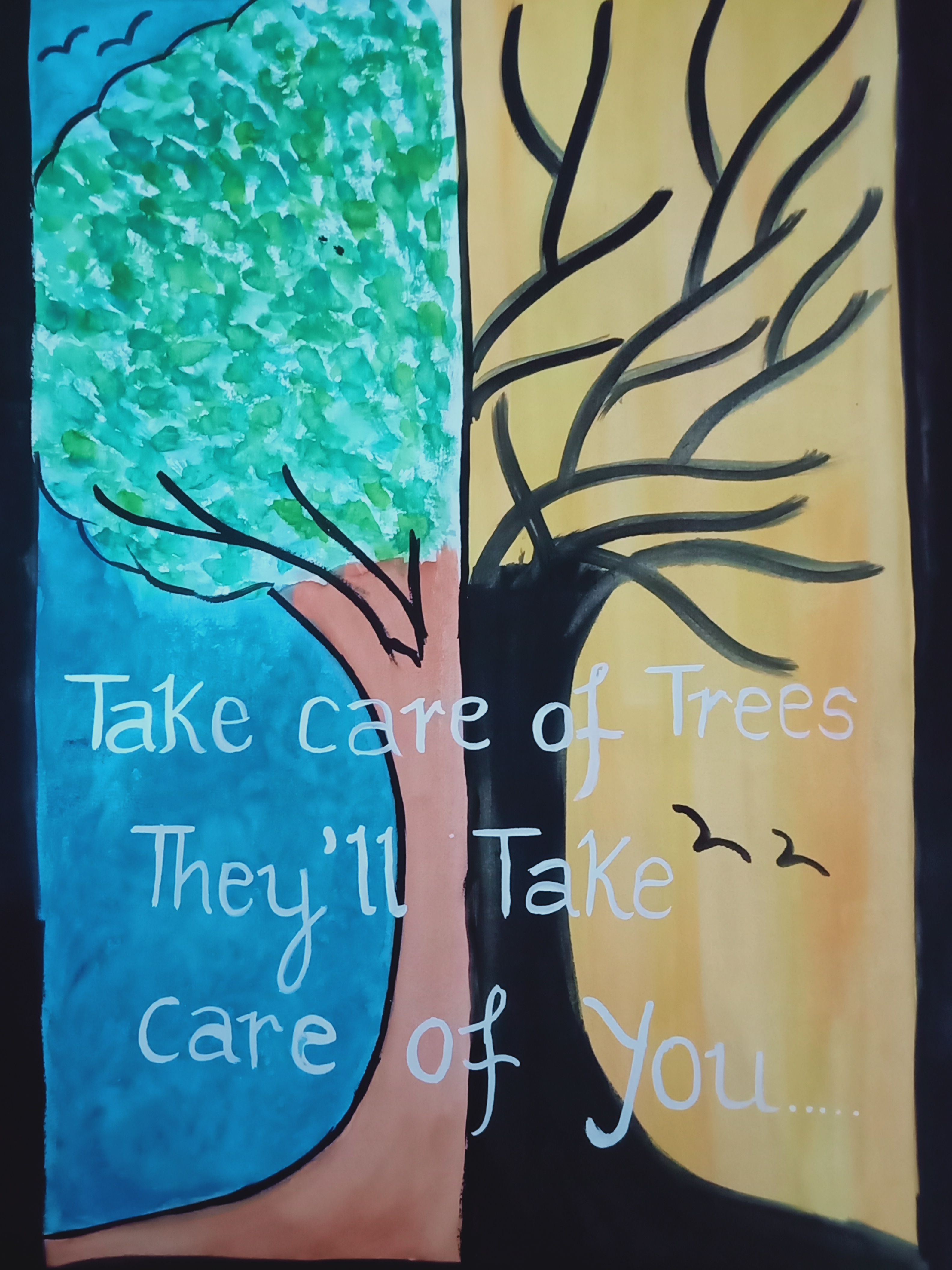 Pin By Jennifer Matuszak On Klove Tree Drawing For Kids Save Trees Slogans Save Earth Posters