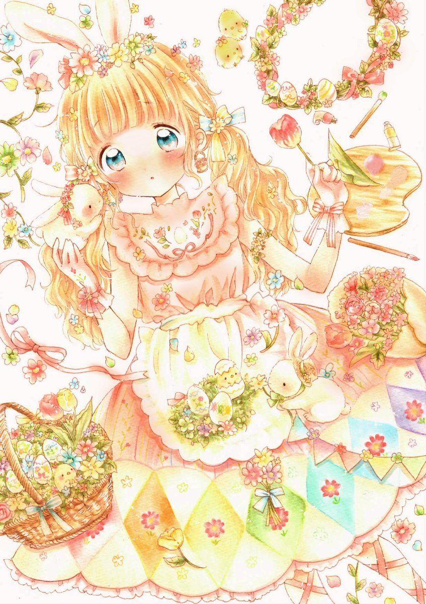 ことりはな (@flowerribon) | twitter | girls with flowers